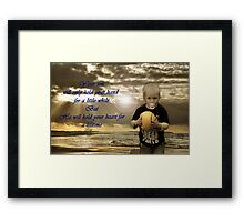 ODE TO BOYS Framed Print