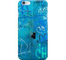 Blue Punk Style Street Graffiti iPhone Case/Skin