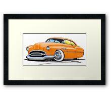 Buick Super Riviera (1952) Orange Framed Print