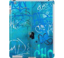 Blue Punk Style Street Graffiti iPad Case/Skin