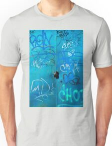 Blue Punk Style Street Graffiti Unisex T-Shirt