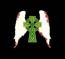 Celtic Cross With Angel Wings by CrimsonRegret
