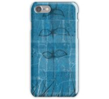 Little blue flower, field, tree, night iPhone Case/Skin