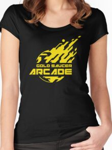 GOLD SAUCER ARCADE Women's Fitted Scoop T-Shirt