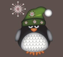Cute Green Hat Baby Penguin One Piece - Short Sleeve