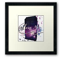 Tardis' Allons-y! Framed Print