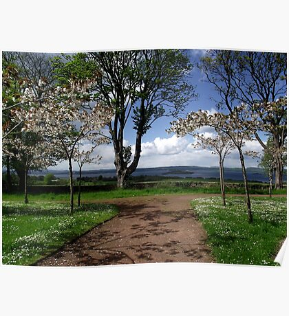 Looking out over the River Forth to Fife from grounds of Lauriston Castle Poster