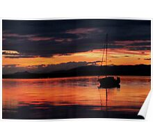 Sunset at Blackness Poster
