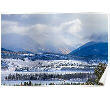 Colorado Rocky Mountain Autumn Storm Poster