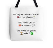 'A.M.' One Direction Lyrics + Emojis Tote Bag