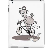 Bear on bike with Fox and Bird iPad Case/Skin
