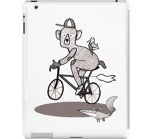 Bear on bike with Fox and Bird iPad Case/Skin