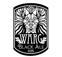 WARG Black Ale Label Photographic Print