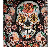 skull with flowers by LFandDESIGN