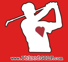 IBG Golfer Heart Silhouette Tee-shirt by ibleedgolf