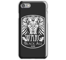 WARG Black Ale Label iPhone Case/Skin