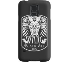 WARG Black Ale Label Samsung Galaxy Case/Skin