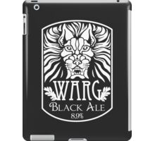 WARG Black Ale Label iPad Case/Skin