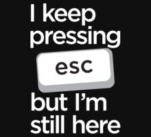 I keep pressing esc but I am still here by e2productions