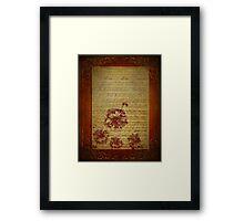 Vintage Sheet Music And Flowers Framed Print