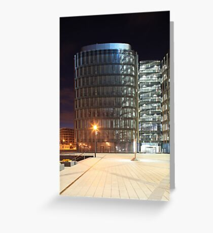 skyscraper  at night Greeting Card
