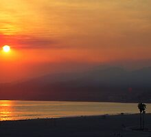 Santa Monica Sunset by Harlan Mayor