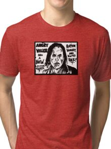ANGRY WALKER HAS HERD Tri-blend T-Shirt