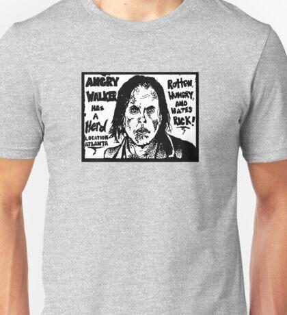ANGRY WALKER HAS HERD Unisex T-Shirt