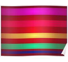 Stripes Art Brown Poster