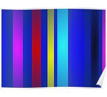 Stripes Art Navy Poster