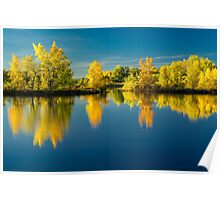 Autumn Trees and Lake Reflections Poster