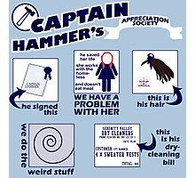 Captain Hammer's Appreciation Society Photographic Print