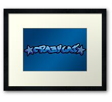 CrazyCat Framed Print