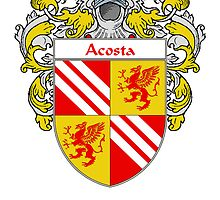 Acosta Coat of Arms/Family Crest by William Martin