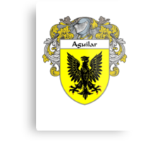 Aguilar Coat of Arms/Family Crest Metal Print