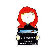 B. Crusher, Lineup Photographic Print