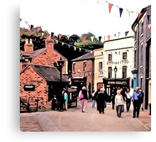 BUSTLING BLISTS HILL Canvas Print