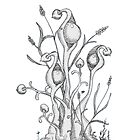 Podders original pen and ink by Vicki Noble