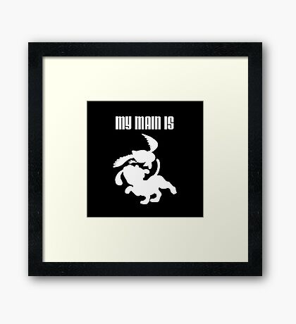 My Main Is Duck Hunt (Smash Bros) Framed Print