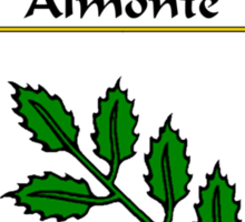 Almonte Coat of Arms/Family Crest Sticker