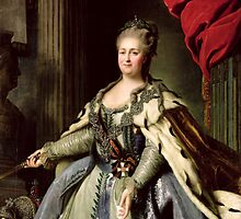Portrait of Catherine II (1729-96) c.1770 (oil on canvas) by Bridgeman Art Library