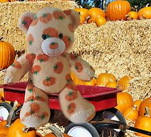 ✿♥‿♥✿PUMPKIN TEDDY BEAR IN WAGON✿♥‿♥✿ by ╰⊰✿ℒᵒᶹᵉ Bonita✿⊱╮ Lalonde✿⊱╮