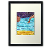 OilPastelBeach Framed Print