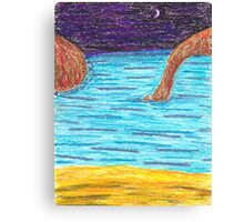 OilPastelBeach Canvas Print