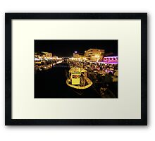 Saturday night. Framed Print