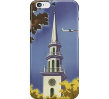 Vintage poster - New England iPhone Case/Skin