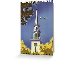 Vintage poster - New England Greeting Card