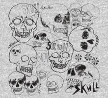 Black Sketchbook Skulls by ArtVixen