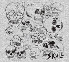 Black Sketchbook Skulls by ArtVixen