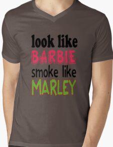 Look Like Barbie smoke Like Marley Mens V-Neck T-Shirt